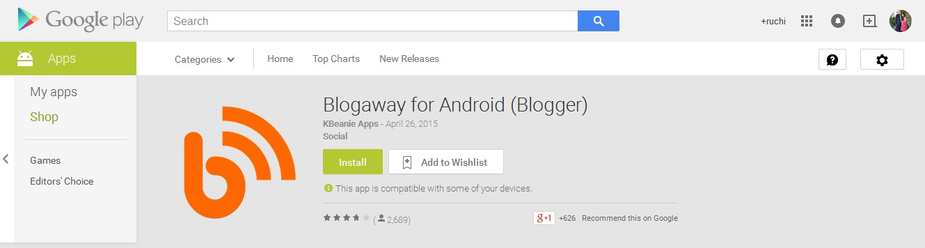 Blogaway for Android (Blogger)