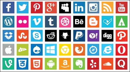 Free -Boxed -Social -Media- Icons -with -Flat- Design