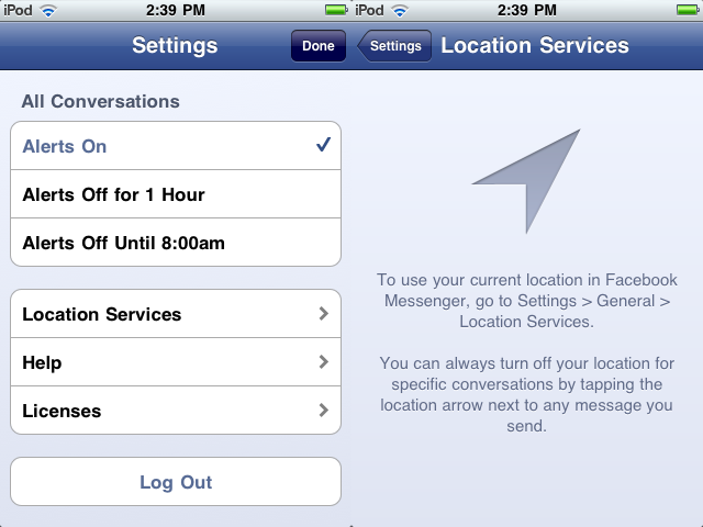 how to change location settings on iphone 5c