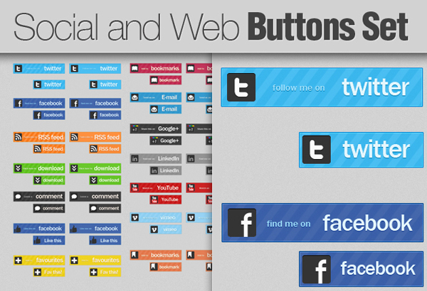 Social Button Collection