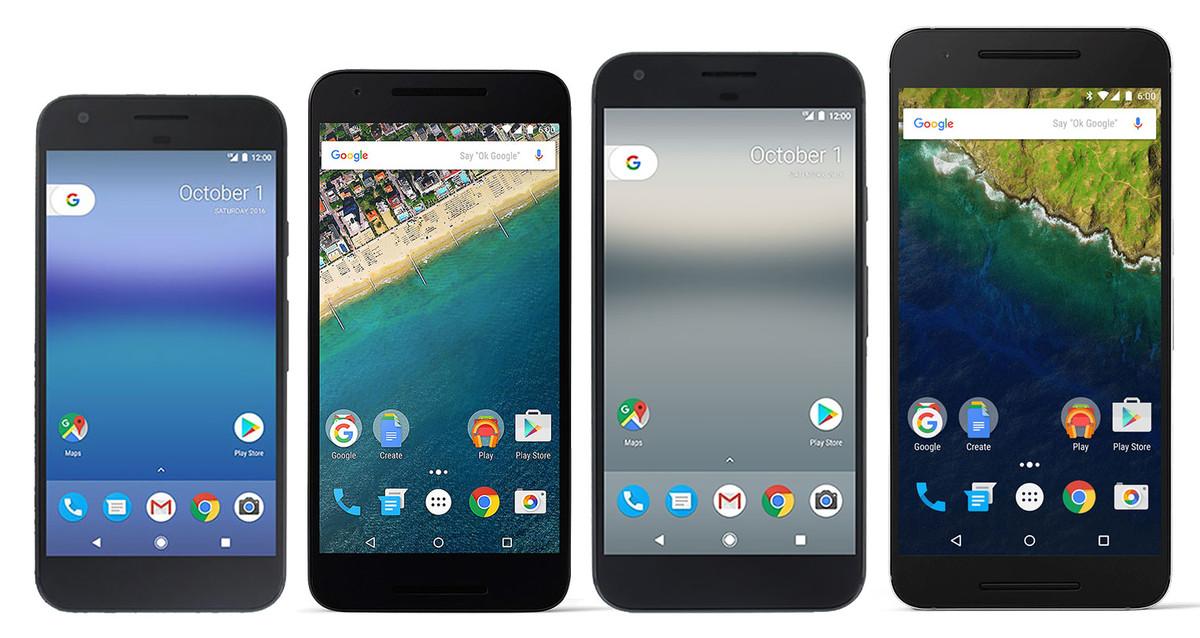 Google Pixel, Pixel XL and Nexus 5X and Nexux6P
