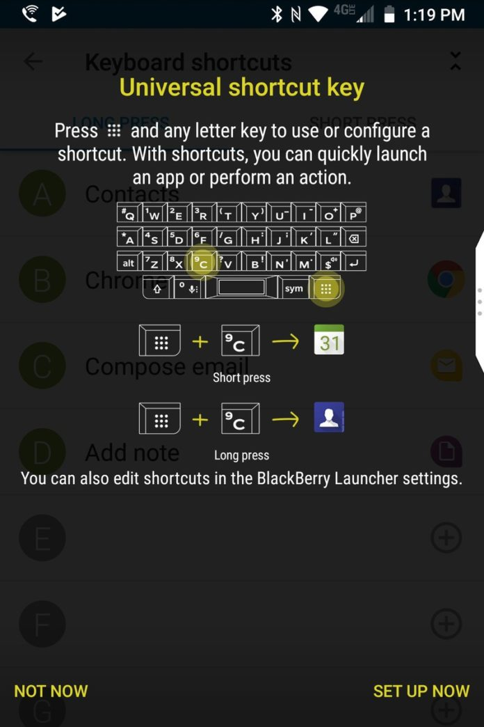 Steps To Use The Speed Key And BlackBerry KEY2 Keyboard Shortcuts